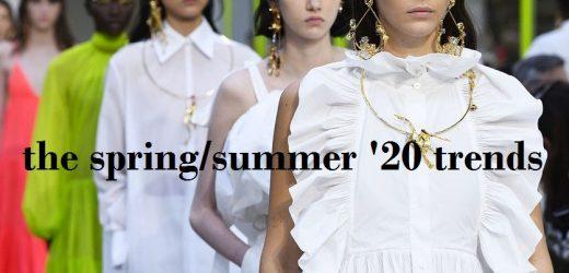 أهم 13 صيحات الموضة لربيع وصيف 20