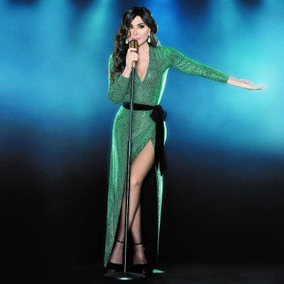 Elissa went for a shiny green dress by fashion designer Alexander Vauthier to announce her new album to the public in 2018.