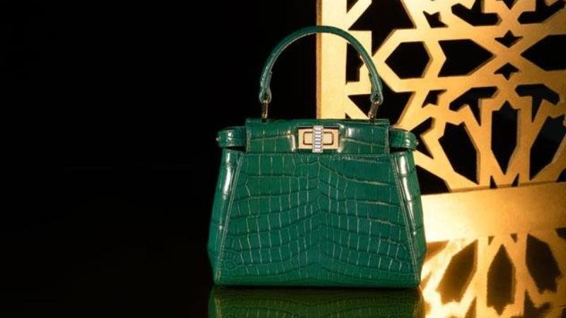 Fendi Peekaboo in crocodile