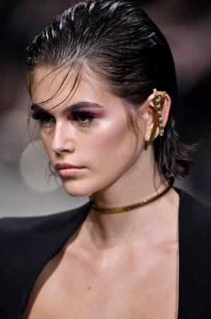 Kaia Gerber at Versace