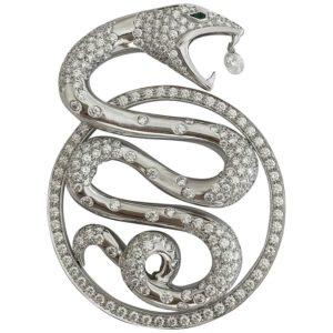 Boucheron snake pendant