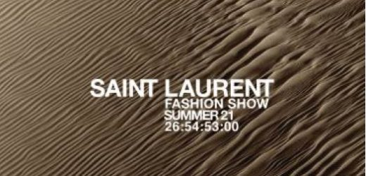 LIVE WITH THE SAINT LAURENT SUMMER '21 SHOW