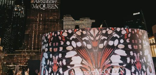 ALEXANDER MCQUEEN LIGHTS UP BURJ KHALIFA