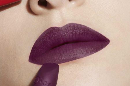 dior matte purple lipstick